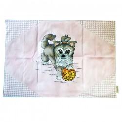 SPILLIDEA Plaid per Cane e Gatto  Scozzese Yorkshire Rosa 70x47 cm