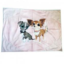SPILLIDEA Plaid per Cane e Gatto Chihuahua Rosa Cipria 70x47 cm