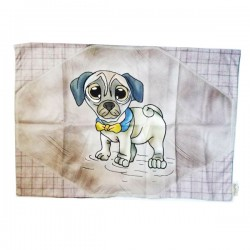 SPILLIDEA Plaid per Cane e Gatto Scozzese Carlino Marrone 70x47 cm