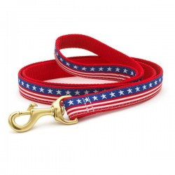 UP COUNTRY Stars and Stripes  Guinzaglio con Collare in Nylon per Cane TG.S 15x1200 mm