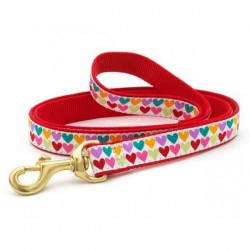 UP COUNTRY POP HEARTS Guinzaglio con Collare in Nylon per Cane TG.XL 25x1200 mm