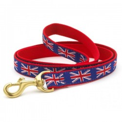 UP COUNTRY UNION JACK Guinzaglio con Collare in Nylon per Cane TG.XL 25x1200 mm