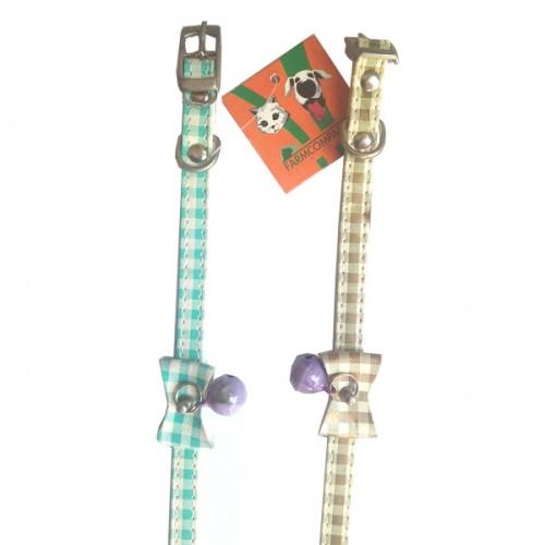 FARM COMPANY collarini per cane e gatto in similpelle con campanellino e fiocchetto 10 mm X 30 cm