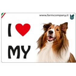"FARM COMPANY Morbido Magnete ""I LOVE"" Collie 9x6 cm"