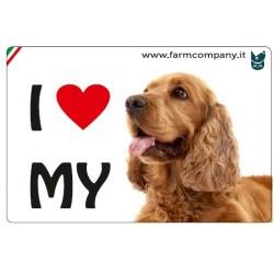 "FARM COMPANY Morbido Magnete ""I LOVE"" Cocker Spaniel 9x6 cm"