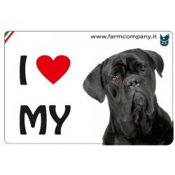 """FARM COMPANY Morbido Magnete """"I LOVE"""" Cane Corso 9x6 cm"""