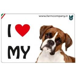 """FARM COMPANY Morbido Magnete """"I LOVE"""" Boxer 9x6 cm"""