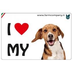 "FARM COMPANY Morbido Magnete ""I LOVE"" Beagle 9x6 cm"