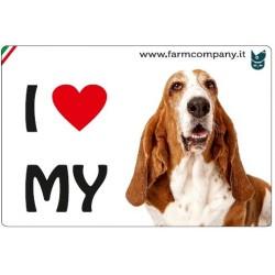 "FARM COMPANY Morbido Magnete ""I LOVE"" Bassetthoud 9x6 cm"