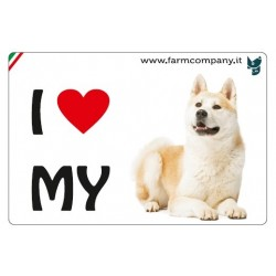 "FARM COMPANY Morbido Magnete ""I LOVE"" Akita 9x6 cm"