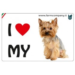 "FARM COMPANY Morbido Magnete ""I LOVE""  Yorkshire 9x6 cm"