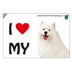 "FARM COMPANY Morbido Magnete ""I LOVE""  Samoedo 9x6 cm"