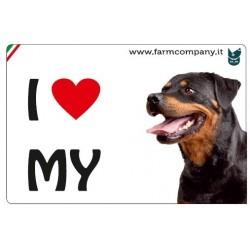 "FARM COMPANY Morbido Magnete ""I LOVE""  Rottweller 9x6 cm"