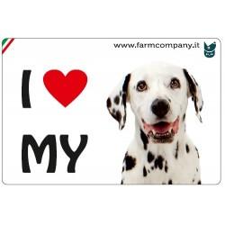 """FARM COMPANY Morbido Magnete """"I LOVE""""  Dalmata 9x6 cm"""