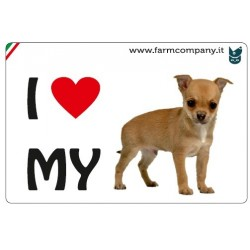 "FARM COMPANY Morbido Magnete ""I LOVE""  Chihuahua 9x6 cm"