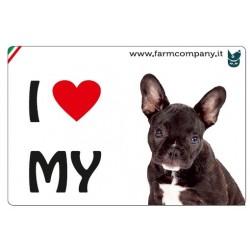 "FARM COMPANY Morbido Magnete ""I LOVE""  Bulldog Francese 9x6 cm"