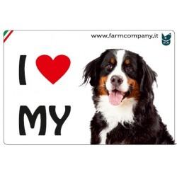 "FARM COMPANY Morbido Magnete ""I LOVE""  Bovaro Bernese 9x6 cm"