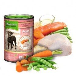 NATURES MENU Chicken with Salmon ADULT - CIBO UMIDO PER CANI gusto POLLO E SALMONE 400 GR.